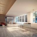 Richard Meier Designs Two-Tower Residential Development for Bogota Lobby. Image © Richard Meier & Partners