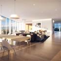 Richard Meier Designs Two-Tower Residential Development for Bogota Unit 1: Living Room. Image © Richard Meier & Partners