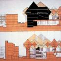 AD Classics: Kubuswoningen / Piet Blom Section through the Academy of Architecture