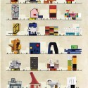 ARCHIST: Illustrations of Famous Art Reimagined as Architecture © Federico Babina