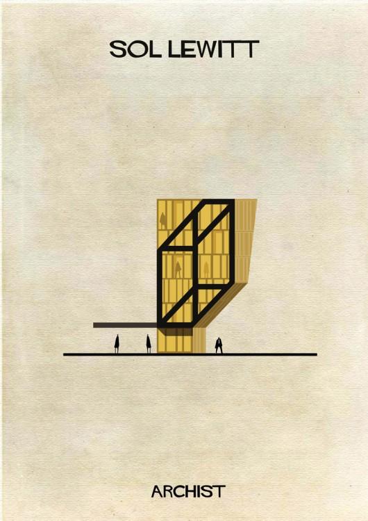 تصویرگری مشاهیر، از هنر به معماری