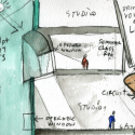 Seona Reid Building / Steven Holl Architects Drawing 1