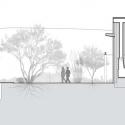 San Cayetano Mountain Residence / DesignBuild Collaborative Section E-W