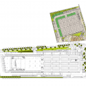 Taipei Flower Wholesale Market, Taiwan International Flower Trade Center Large site for cut flowers market. / H.P. Chueh Architects & Planners Floor Plan 1
