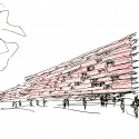 Building Carmen Martín Gaite / Estudio Beldarrain Sketch