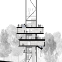 The Sustainability Treehouse  / Mithun Longitudinal Section