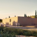 "Álvaro Siza + Juan Domingo Santos Design ""New Gate of Alhambra"" Alhambra Atrium I Main Platform Access (Southeast Parking). Image © Alvaro Siza Vieira + Juan Domingo Santos; Rendering by LT Studios"