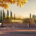"Álvaro Siza + Juan Domingo Santos Design ""New Gate of Alhambra"" Alhambra Atrium I Entrance Square (Southwest Cypress Path). Image © Alvaro Siza Vieira + Juan Domingo Santos; Rendering by LT Studios"