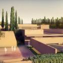 "Álvaro Siza + Juan Domingo Santos Design ""New Gate of Alhambra"" Alhambra Atrium I Ivy Courtyard (Northwest Landscape View). Image © Alvaro Siza Vieira + Juan Domingo Santos; Rendering by LT Studios"