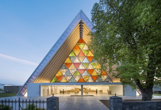 Post 7 Pritzker Disaster Relief Cardboard Cathedral. Image © Stephen Goodenough