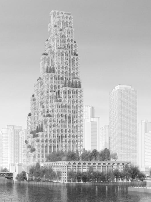 532c6beac07a803a07000041 evolo 2014 skyscraper competition winners 22 mention 530x709 Cùng nhìn qua 23 kiến trúc xanh của tương lai