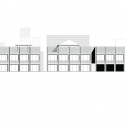 Mixed use infill 3 houses and an office / Collectief Noord Elevation