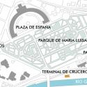 Cruise Ship Terminal in the Port of Seville / Hombre de Piedra + Buró4 Site Plan