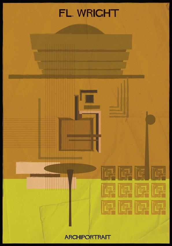 هنر پرتره و معماری: فرانک لوید رایت