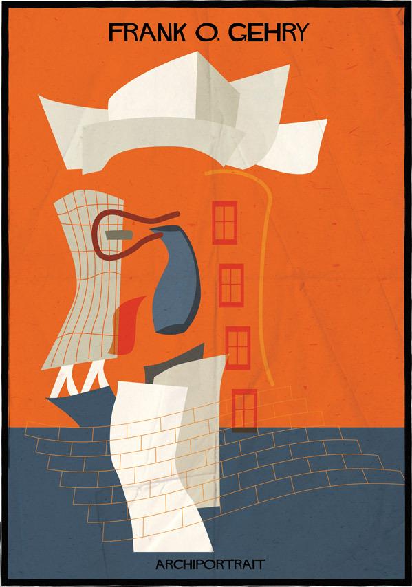 هنر پرتره و معماری: فرانک گری