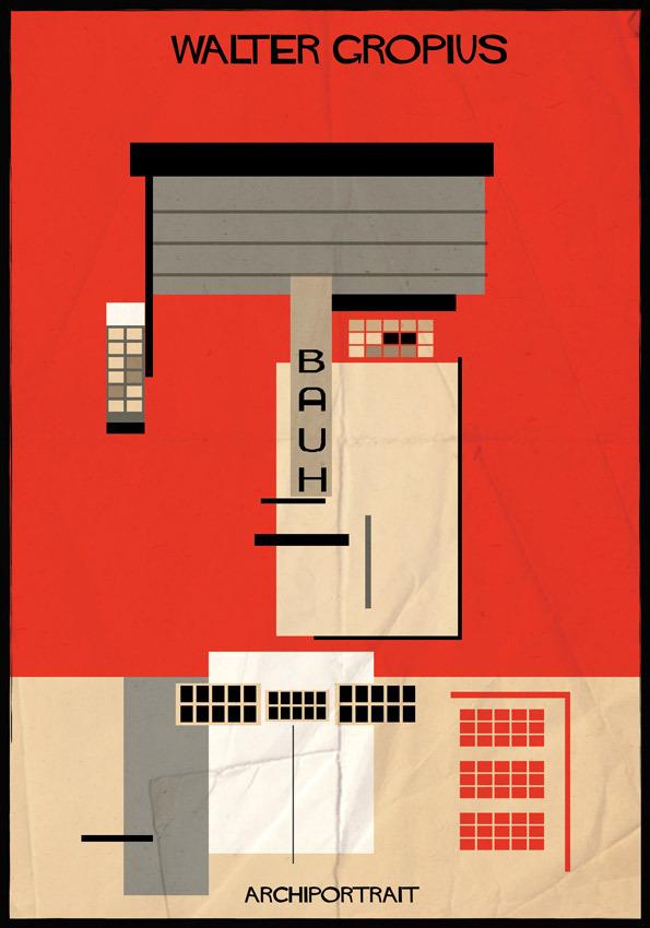 هنر پرتره و معماری: والتر گروپیوس