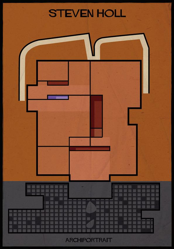 هنر پرتره و معماری: استیو هال