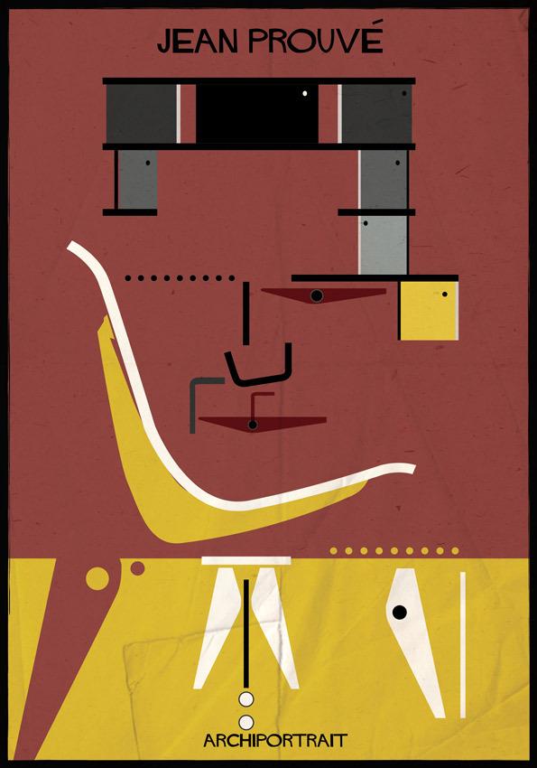 هنر پرتره و معماری: ژان پروو