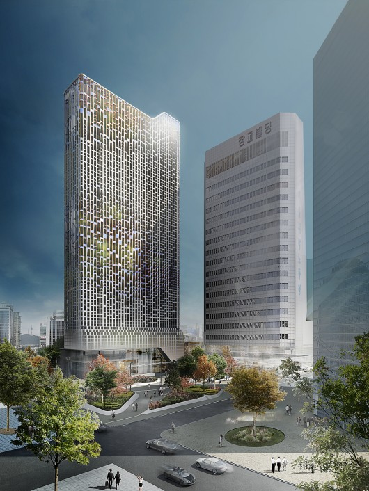 Unstudio s responsive facade to transform seoul office for Un studio architecture