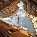 Artist Fills Paris' Negative Space with Whimsical Illustrations © Lamadieu Thomas