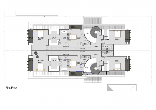 Brighton townhouses martin friedrich architects archdaily for 11 brunel court floor plans