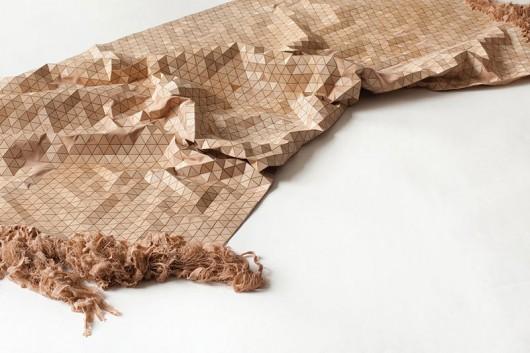 متریال در طراحی داخلی ، متریال ، پارچه چوبی