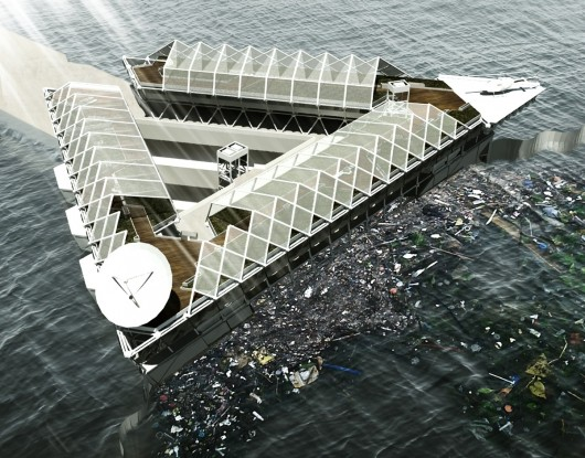 This Floating Platform Could Filter the Plastic from our Polluted Oceans 533adaa7c07a80be520000a4_this-floating-platform-could-filter-the-plastic-from-our-polluted-oceans_exterior_2_-_pa-530x415