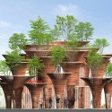 Milan Expo 2015: Vo Trong Nghia's Lotus-Inspired Vietnamese Pavilion Elevation. Image Courtesy of Vo Trong Nghia Architects