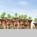 Milan Expo 2015: Vo Trong Nghia's Lotus-Inspired Vietnamese Pavilion Elavation. Image Courtesy of Vo Trong Nghia Architects