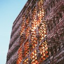 Emerging Practices in India: Anagram Architects Brick screen wall: SAHRDC building. Image Courtesy of Anagram Architects