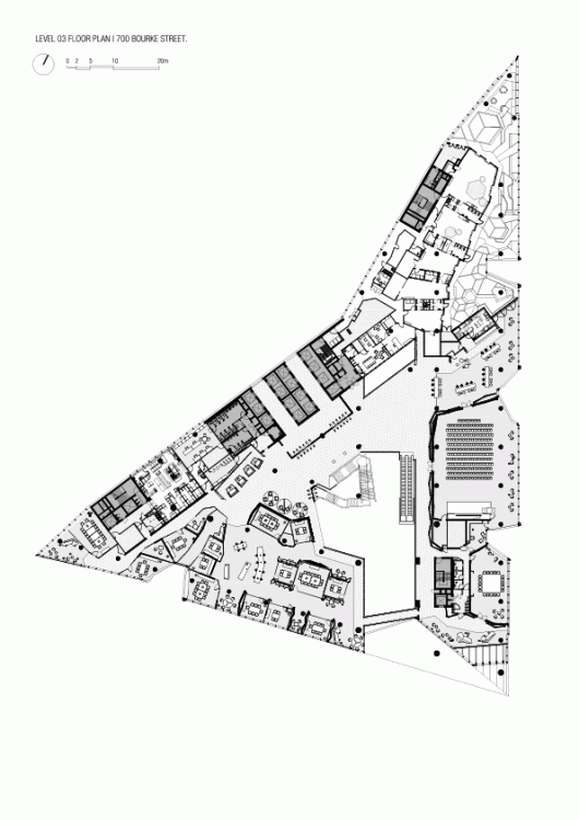 Nab docklands woods bagot archdaily for Triangular house floor plans