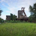 A Photographic Journey Through Zollverein: Post-Industrial Landscape Turned Machine-Age Playground Meadows and Grasslands Among Derelict Buildings. Image © Gili Merin