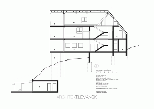 Floor Elevation Difference : Gg house architekt lemanski