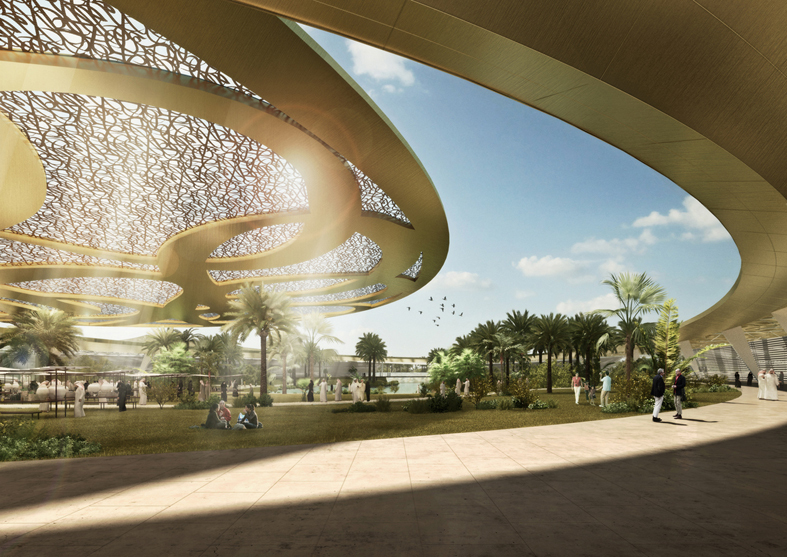 طراحی ساختمان مجمع و باغ قرآن مدینه