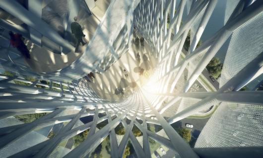 طراحی برج RMJM با کانسپت فرم ماهی