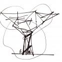 Piazza Garibaldi / Dominique Perrault Architecture Sketch
