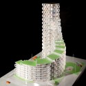 3XN Designs Affordable Housing Tower in Denmark Courtesy of Adam Mørk/3XN