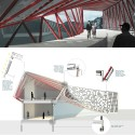 Winners Named for 2013-2014 Steel Design Student Competition: Border Crossing Donovan Dunkley, Vail Nuguid & Alexia Sanchezm, City College of New York. Image Courtesy of Association of Collegiate Schools of Architecture