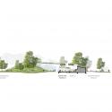 Sección Gran Simio Casa / Hascher Jehle Architektur