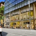 Grimshaw Unveils Sustainable Glass Office Building in the Heart of Sydney Street Level View. Image Courtesy of Grimshaw Architects and Crone Partners