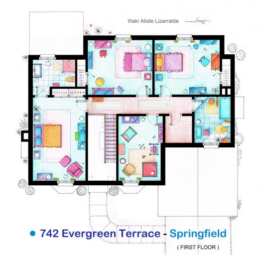 Here are some floor plans from famous tv shows the for Floor plans of famous houses