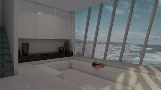 The Cliff House - Victoria - Australie. 5413166dc07a80712f000023_jump-off-a-cliff-and-land-in-bed-in-this-edgy-australian-home_cliff_house_by_modscape_concept_internal_2-530x297