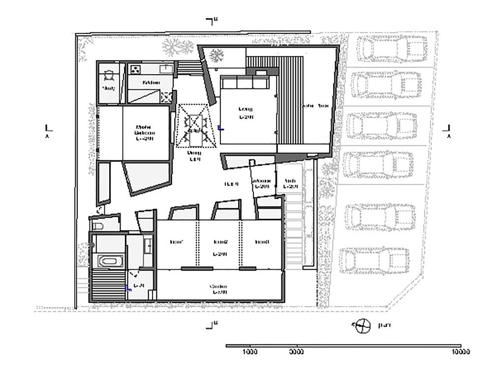 پلان  خانه Akatsuka در ژاپن