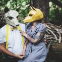 Find a New Life for Your Old Cardboard with these Geometric DIY Halloween Masks © Fearless Photography