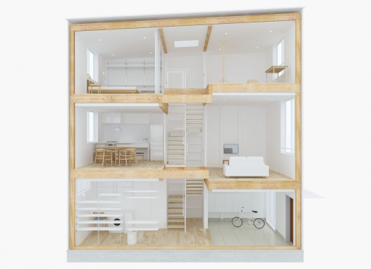 Design your own home with muji s prefab vertical house for Design your own prefab home