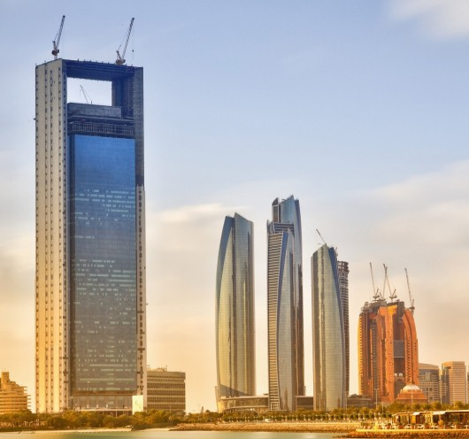 The World's 10 Tallest New Buildings of 2015 5462797ce58eceecb5000003 the world s 10 tallest new buildings of 2015 adnoc headquarters construction 1024x960 530x496