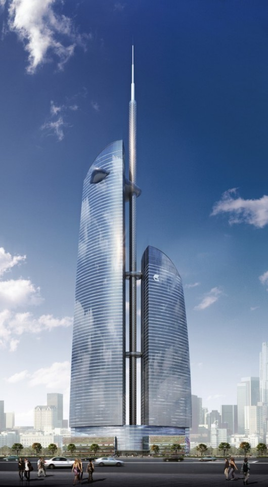 The World's 10 Tallest New Buildings of 2015 54627a0be58eceb71f000006 the world s 10 tallest new buildings of 2015 vostok tower 563x1024 530x963