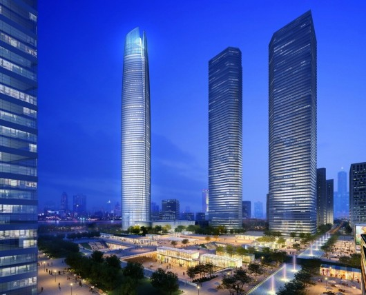 The World's 10 Tallest New Buildings of 2015 54627e38e58eceb71f000012 the world s 10 tallest new buildings of 2015 wuhan center 530x428