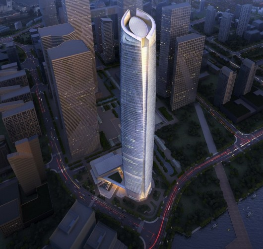 The World's 10 Tallest New Buildings of 2015 54627e39e58ece126900000b the world s 10 tallest new buildings of 2015 wuhan center 1 530x501