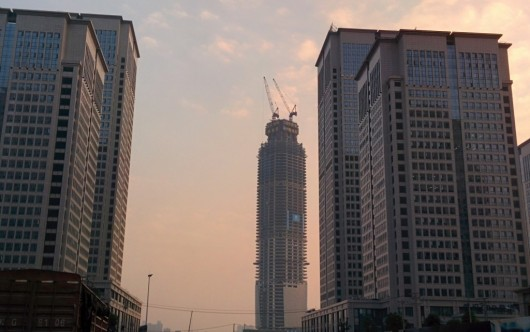 The World's 10 Tallest New Buildings of 2015 54627e60e58ece126900000c the world s 10 tallest new buildings of 2015 wuhan center construction1 1024x643 530x332